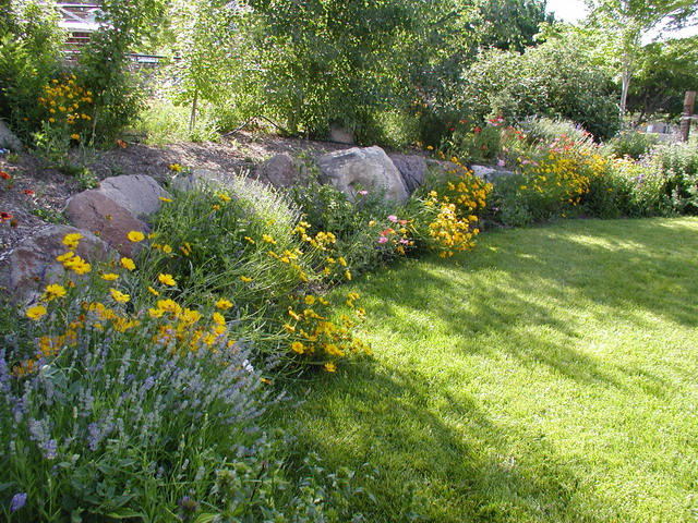 Long narrow flowerbed redesign ideas for Narrow flower bed ideas